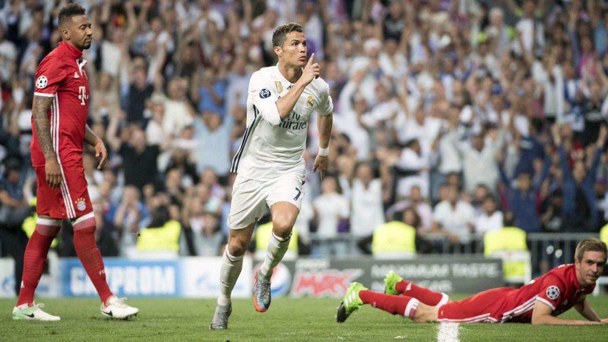 Ronaldo feiert ein Tor gegen den FC Bayern