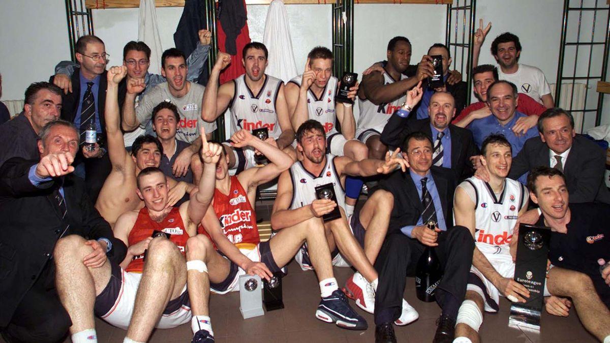 Virtus Bologna 2000-2001, campione Eurolega (LaPresse)