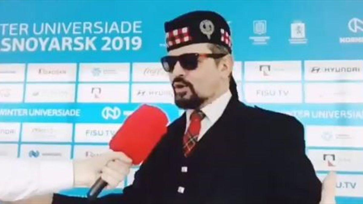 Волынщик Артемий Воробьев на Универсиаде