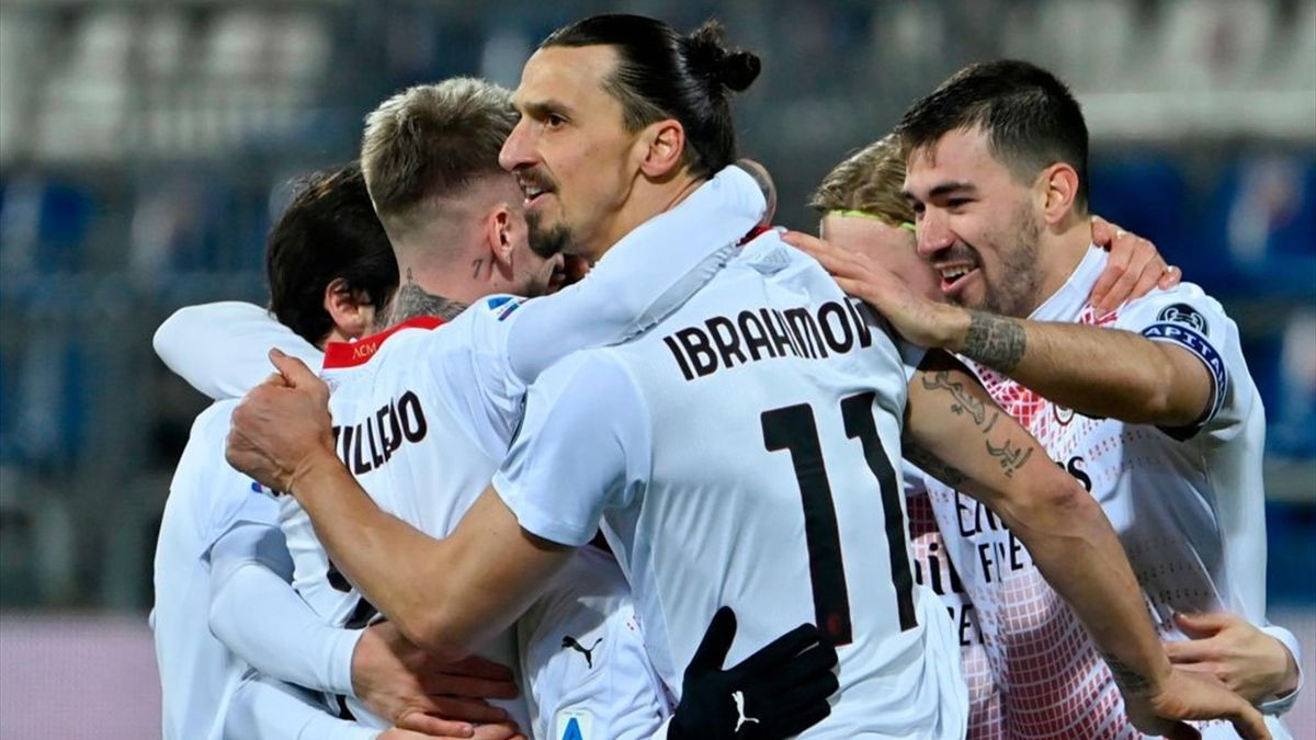 Ibrahimovic realizza il 2-0 - Cagliari-Milan - Serie A 2020/2021 - Getty Images