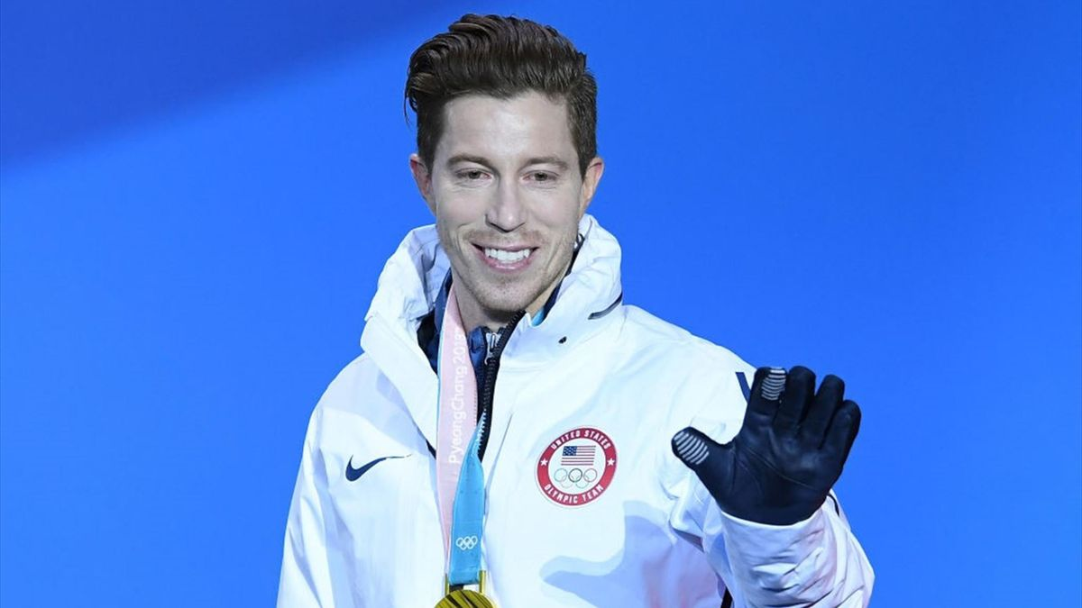 Shaun White after the Snowboard Men's Halfpipe Final