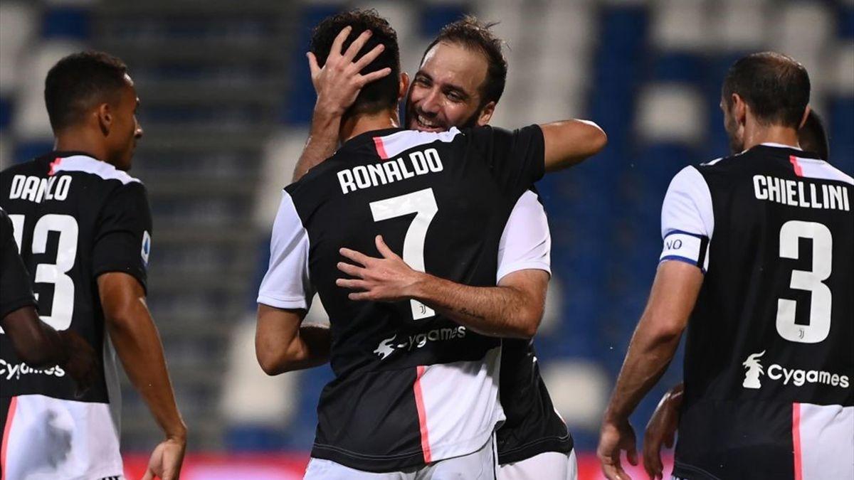 Cristiano Ronaldo, Higuain - Sassuolo-Juventus - Serie A 2019/2020 - Getty Images