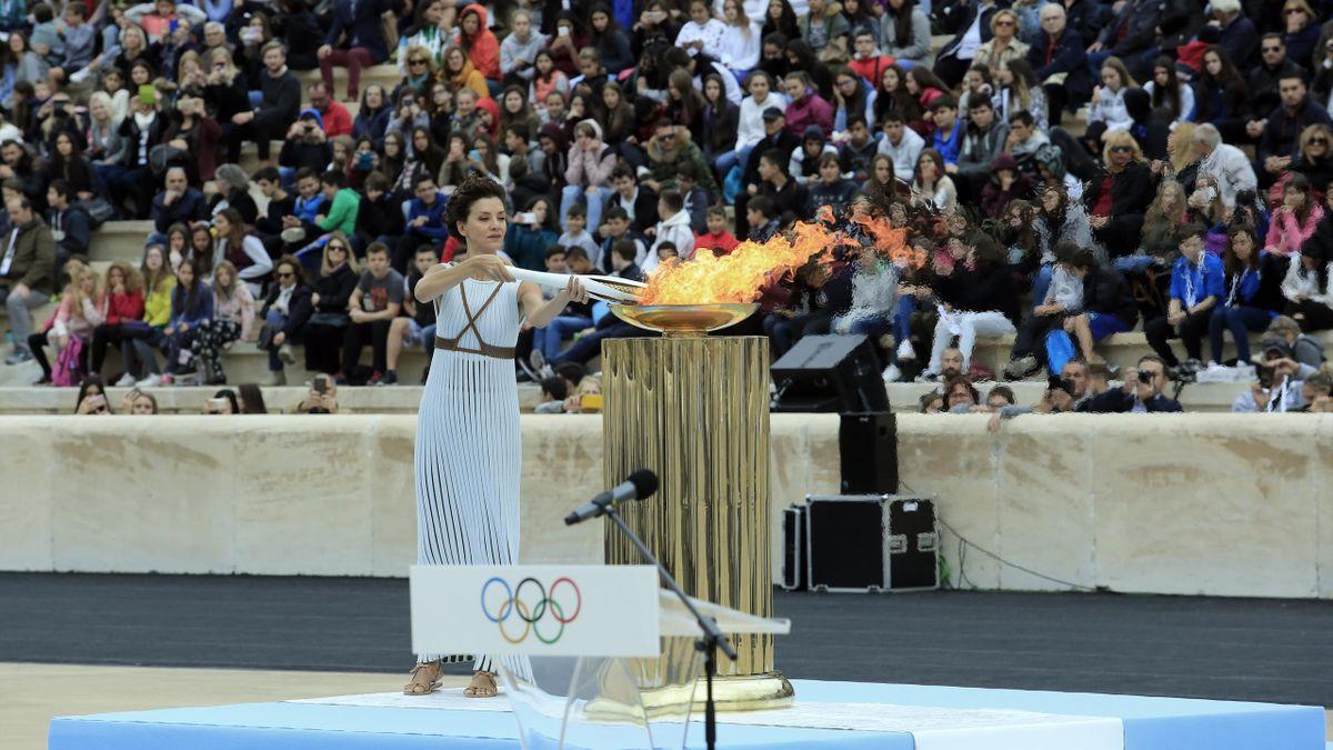 Antorcha olimpica atenas