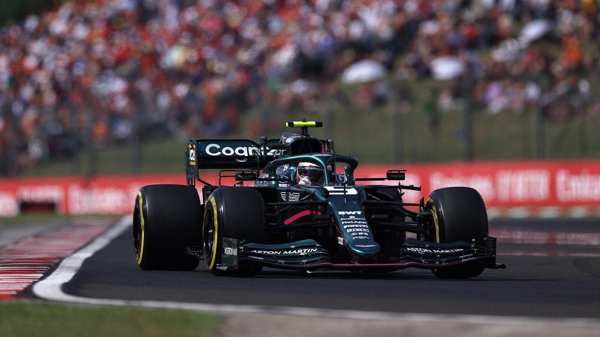 Sebastian Vettel (Aston Martin) au Grand Prix de Hongrie 2021