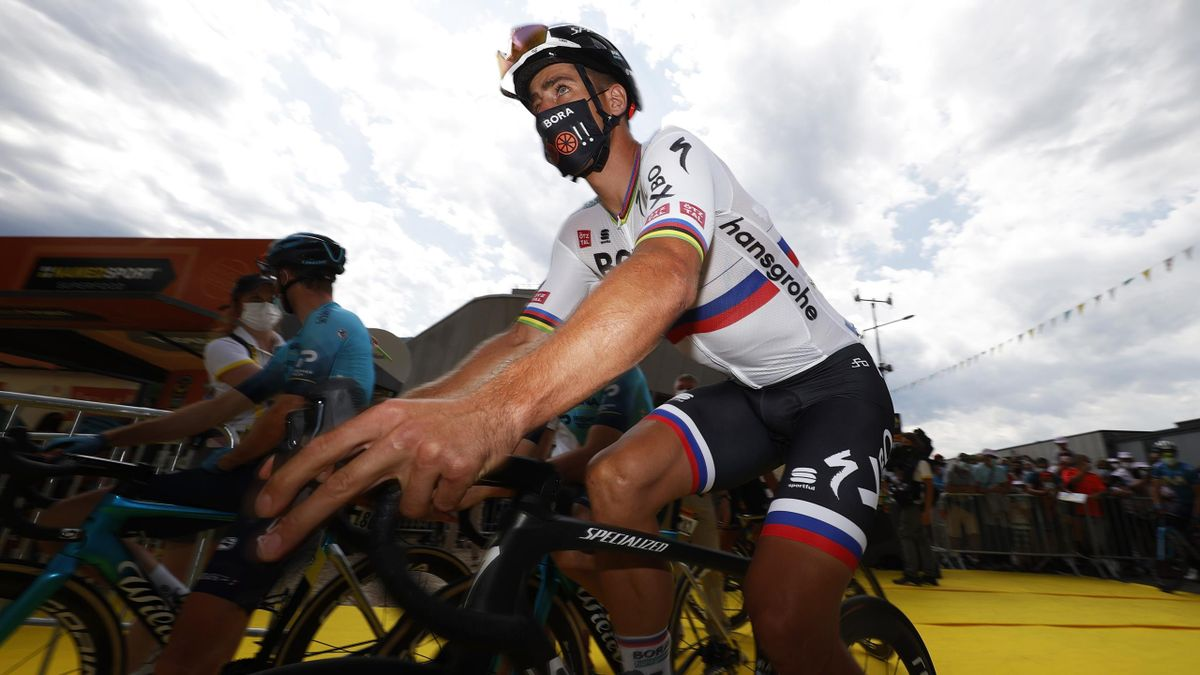 Peter Sagan of Slovakia and Team BORA - Hansgrohe at start during the 108th Tour de France 2021, Stage 10 a 190,7km stage from Albertville to Valence / @LeTour / #TDF2021 / on July 06, 2021 in Valence, France.