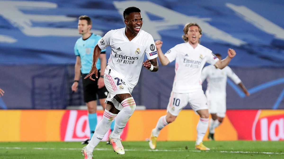 Vinícius Júnior traf doppelt für Real Madrid gegen den FC Liverpool
