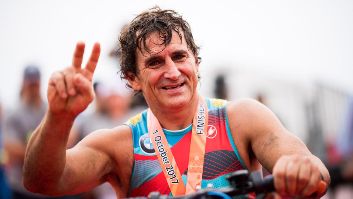 Alex Zanardi, Ironman Barcellona, Getty Images