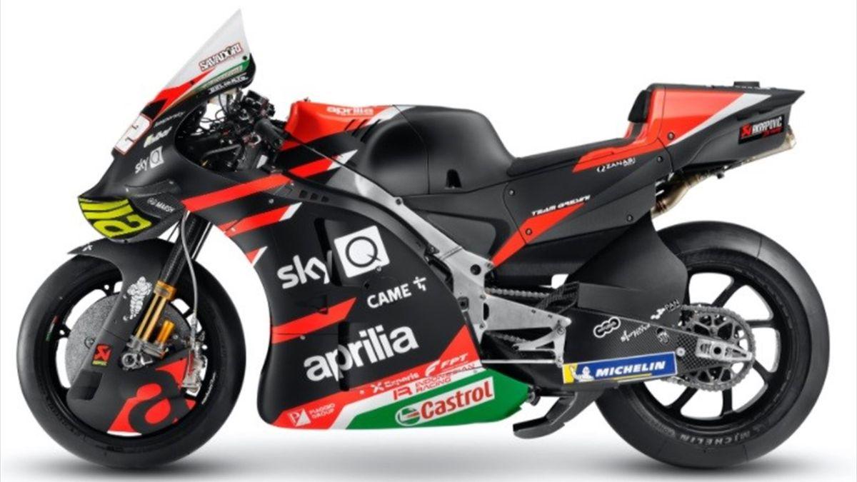 La RS-GP 21, la moto dell'Aprilia Racing Team per il Motomondiale 2021