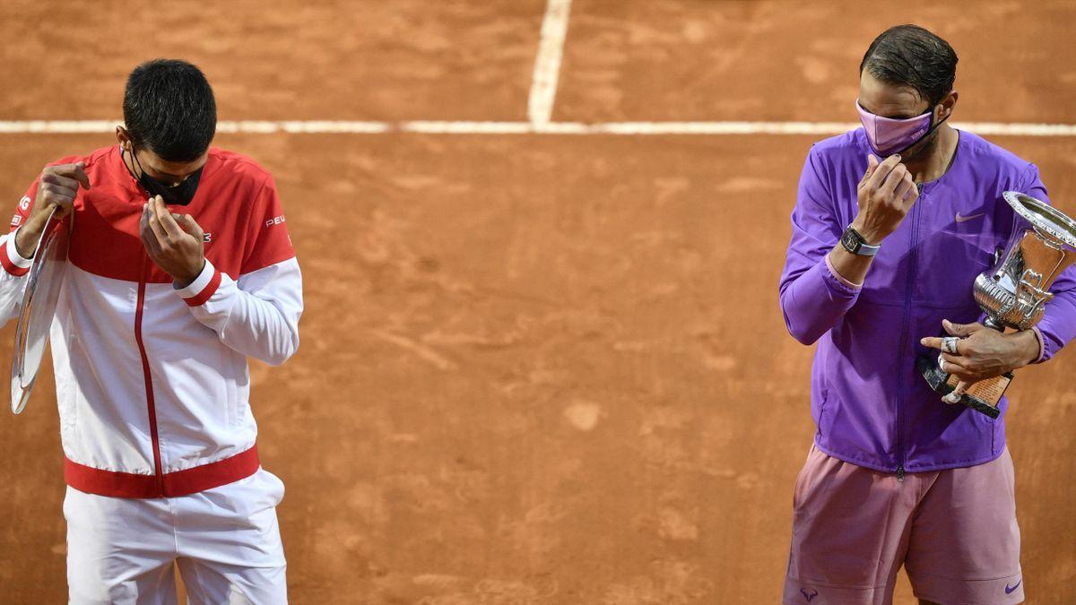 Novak Djokovic and Rafael Nadal - Filippo MONTEFORTE/AFP