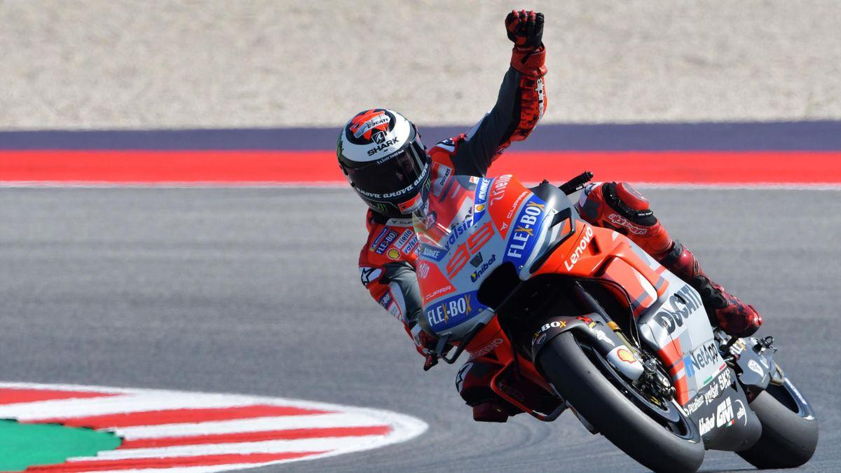 Jorge Lorenzo (Ducati Team) au Grand Prix de Saint-Marin 2018
