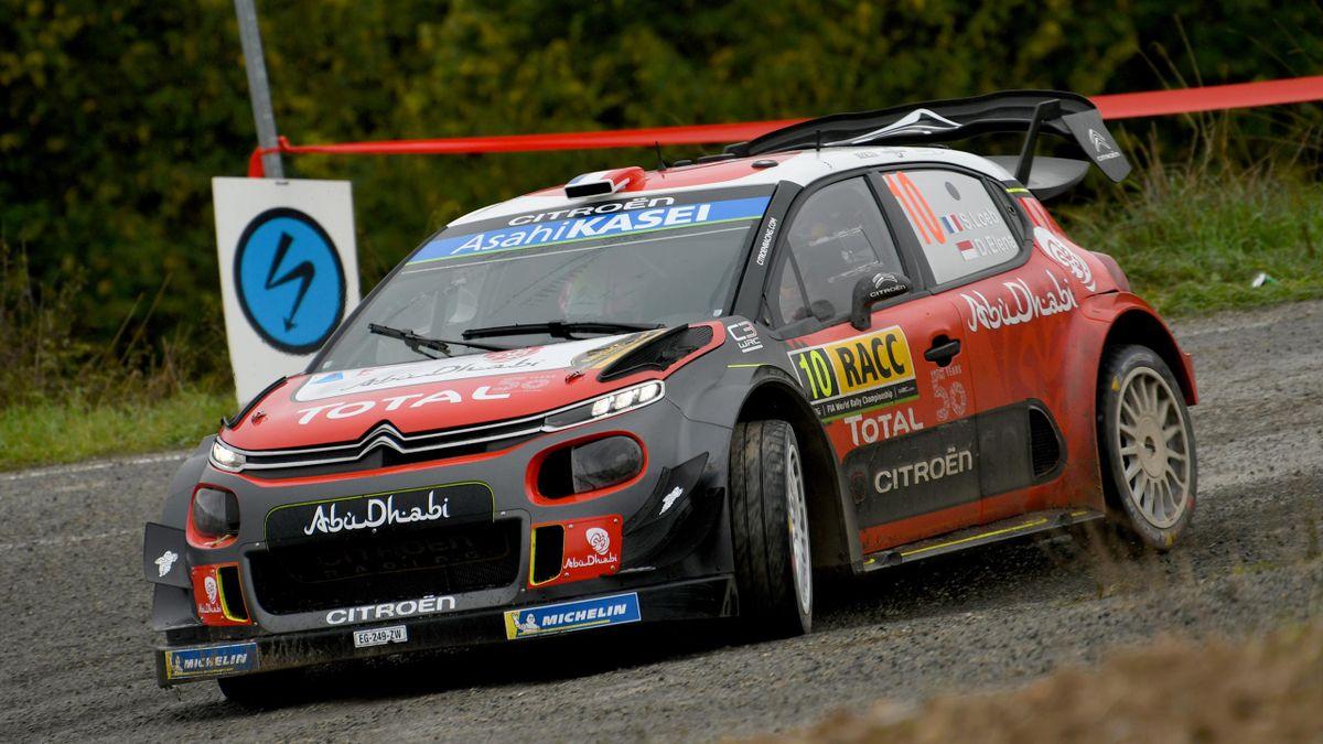 Sébastien Loeb (Citroën) lors du rallye d'Espagne