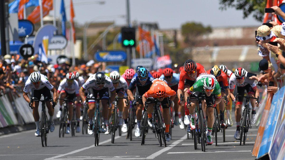 Finale auf der ersten Etappe der Tour Down Under 2019