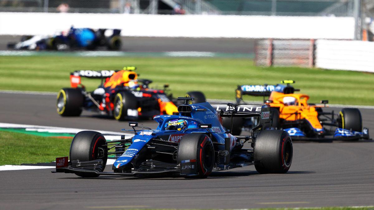 Fernando Alonso (Alpine). GP Gran Bretaña 2021