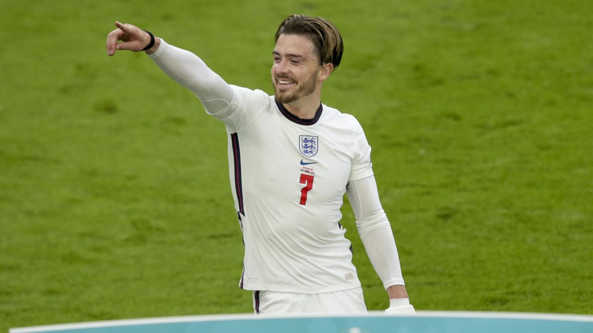 Jack Grealish of England after his side's 2-0 win during the UEFA Euro 2020 Championship Round of 16 match between England and Germany