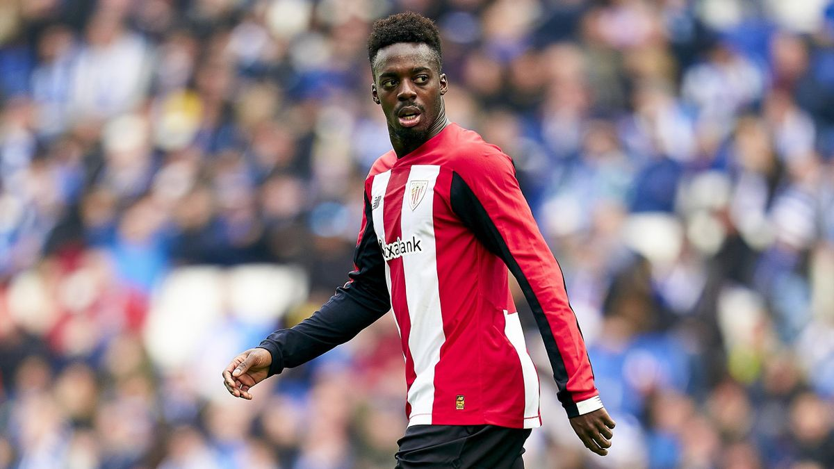 BARCELONA, SPAIN - JANUARY 25: Inaki Williams of Athletic Club looks on during the Liga match between RCD Espanyol and Athletic Club at RCDE Stadium on January 25, 2020 in Barcelona, Spain. (Photo by Quality Sport Images/Getty Images)