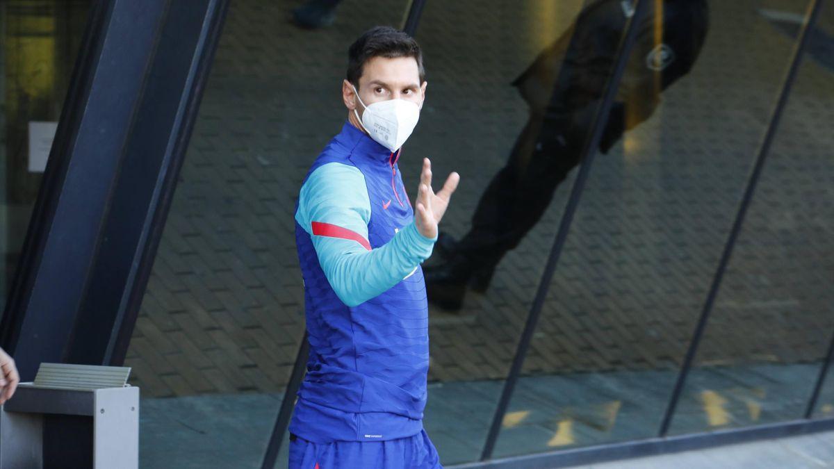 Leo Messi, en un entrenamiento con el FC Barcelona