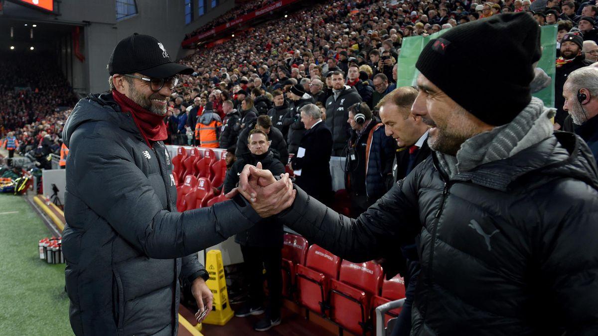 Jurgen Klopp and Josep Guardiola
