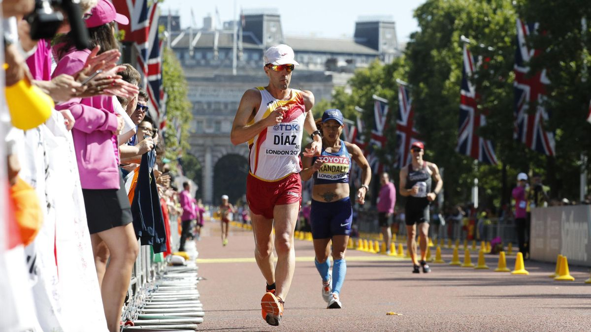 José Ignacio Díaz en la prueba de los 50 kilómetros marcha de Londres 2017