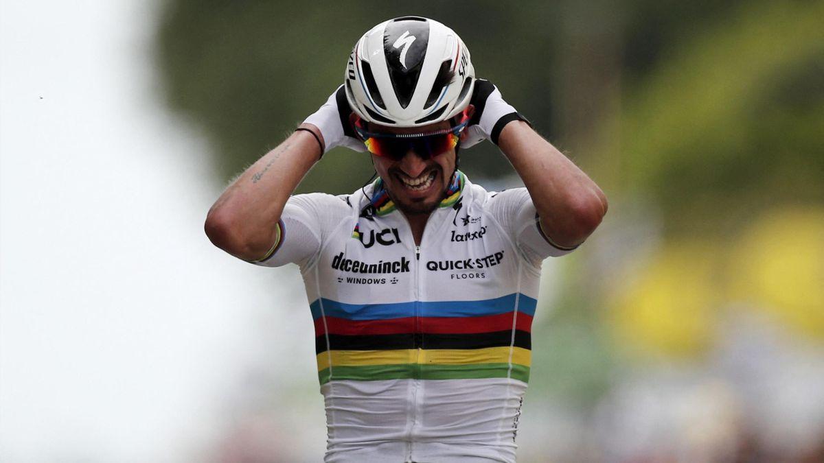 Tour de France| Julian Alaphilippe pakt geel in Landerneau