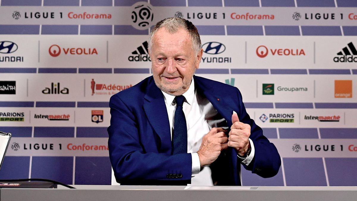 Jean-Michel Aulas (président de l'OL), le 13 février 2020
