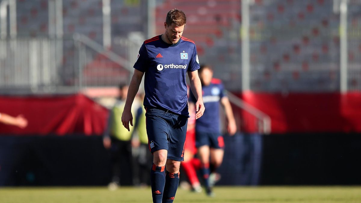 Simon Terodde hat mit dem Hamburger SV in Würzburg verloren
