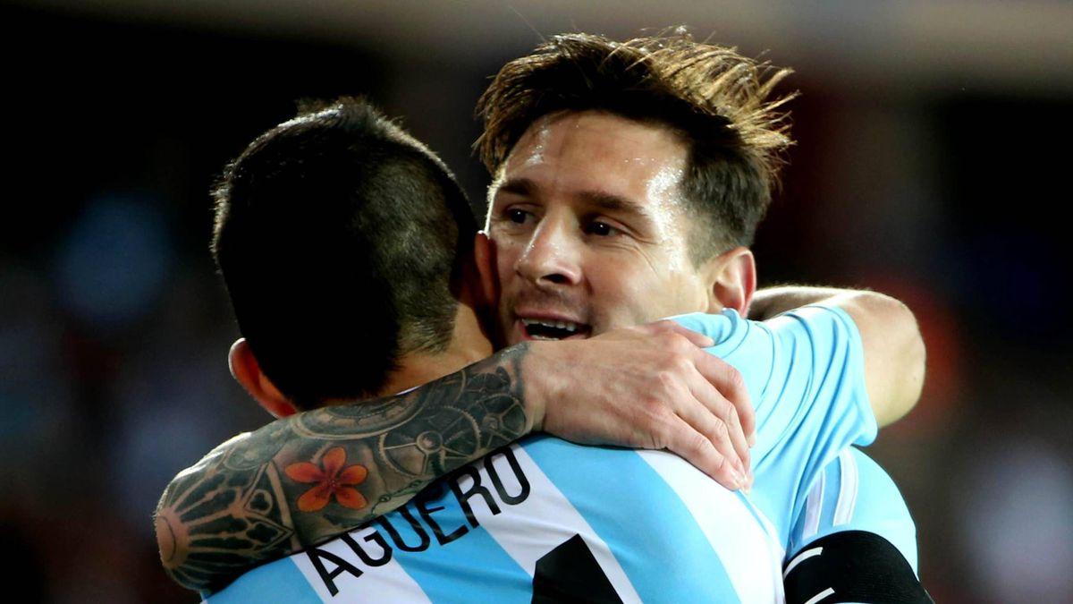 Leo Messi și Sergio Aguero, la naționala Argentinei