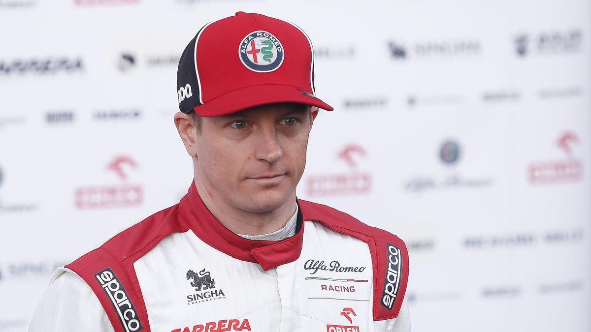 Kimi Raikkonen (Alfa Romeo) à Montmelo le 19 février 2020