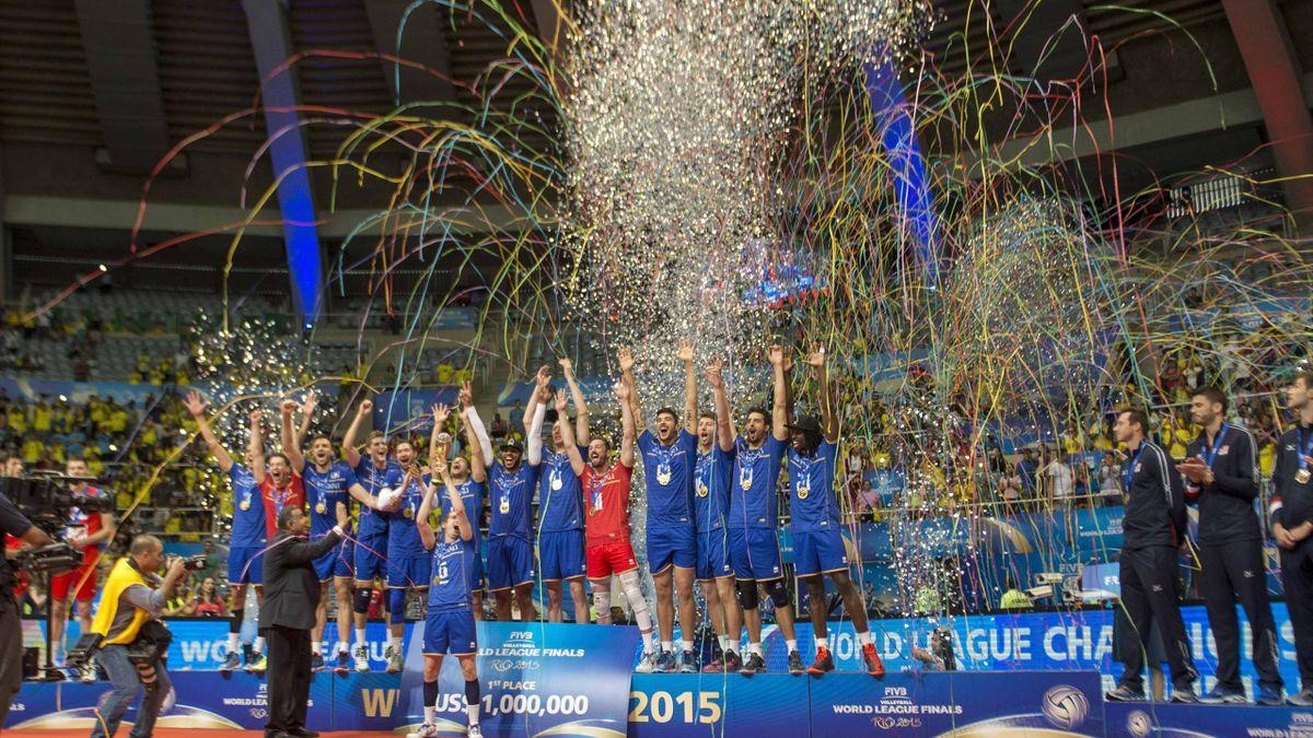 La France, après sa victoire en Ligue mondiale