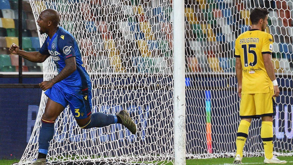 L'esultanza di Samir - Udinese-Parma Serie A 2020-21
