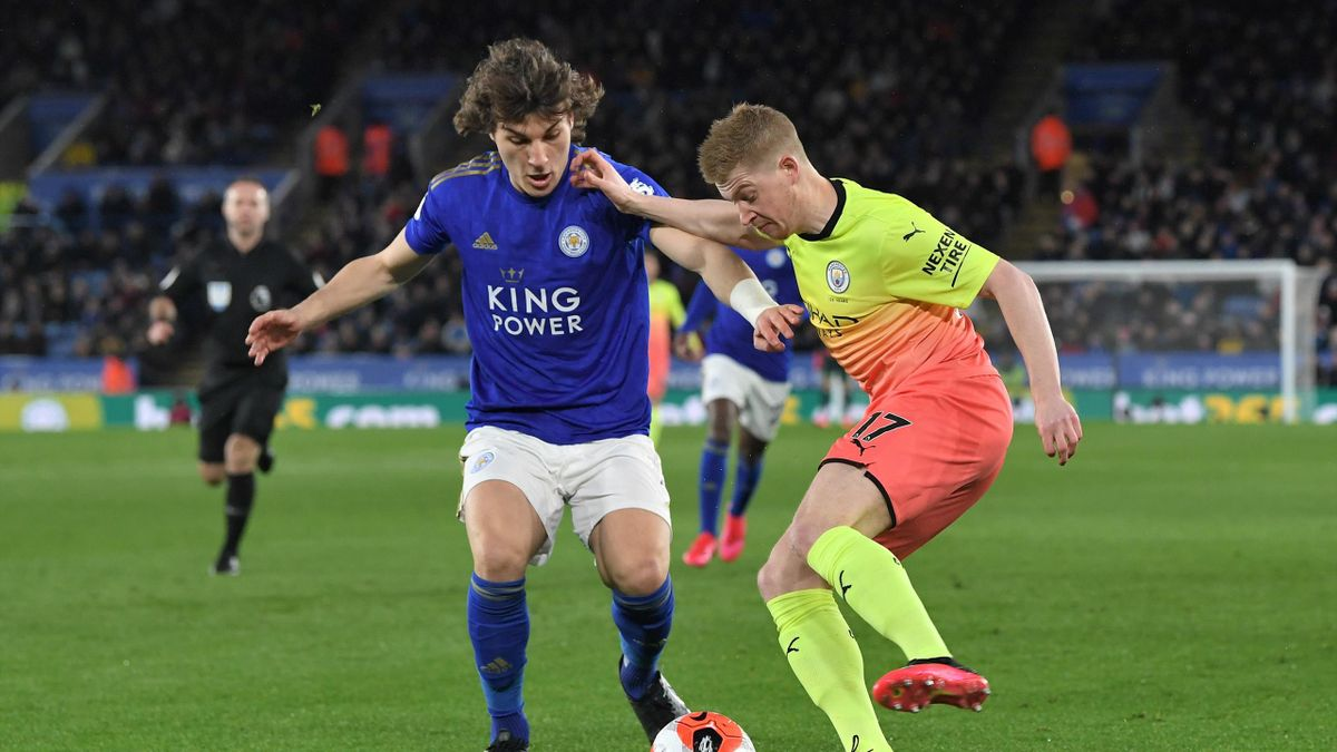 Caglar Söyüncü vs. Kevin De Bruyne - Leicester City vs. Manchester City