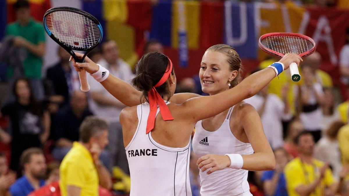 Caroline Garcia et Kristina Mladenovic en Fed Cup