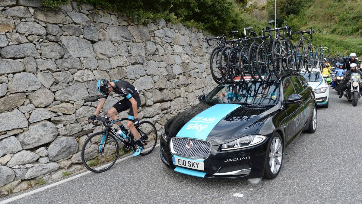Chris Froome in action at the Vuelta