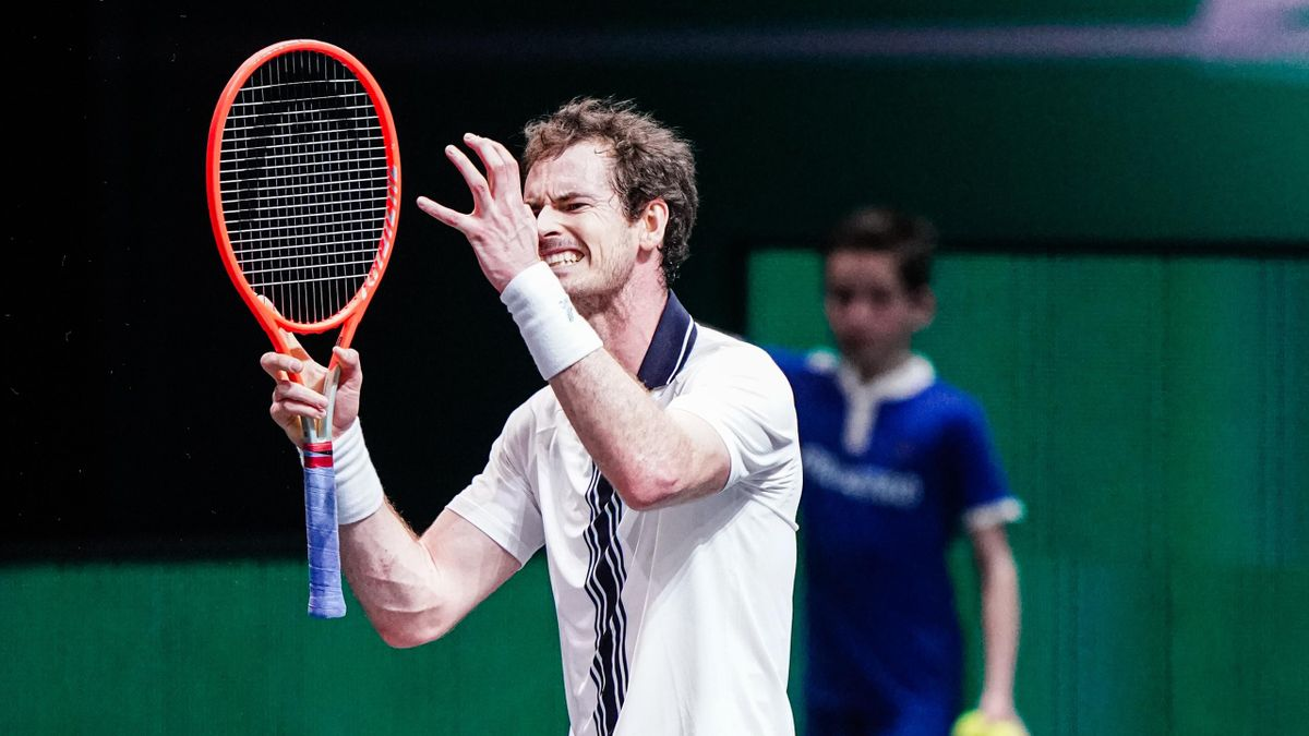 Andy Murray was beaten in straight sets by Andrey Rublev in the second round of the Rotterdam Open