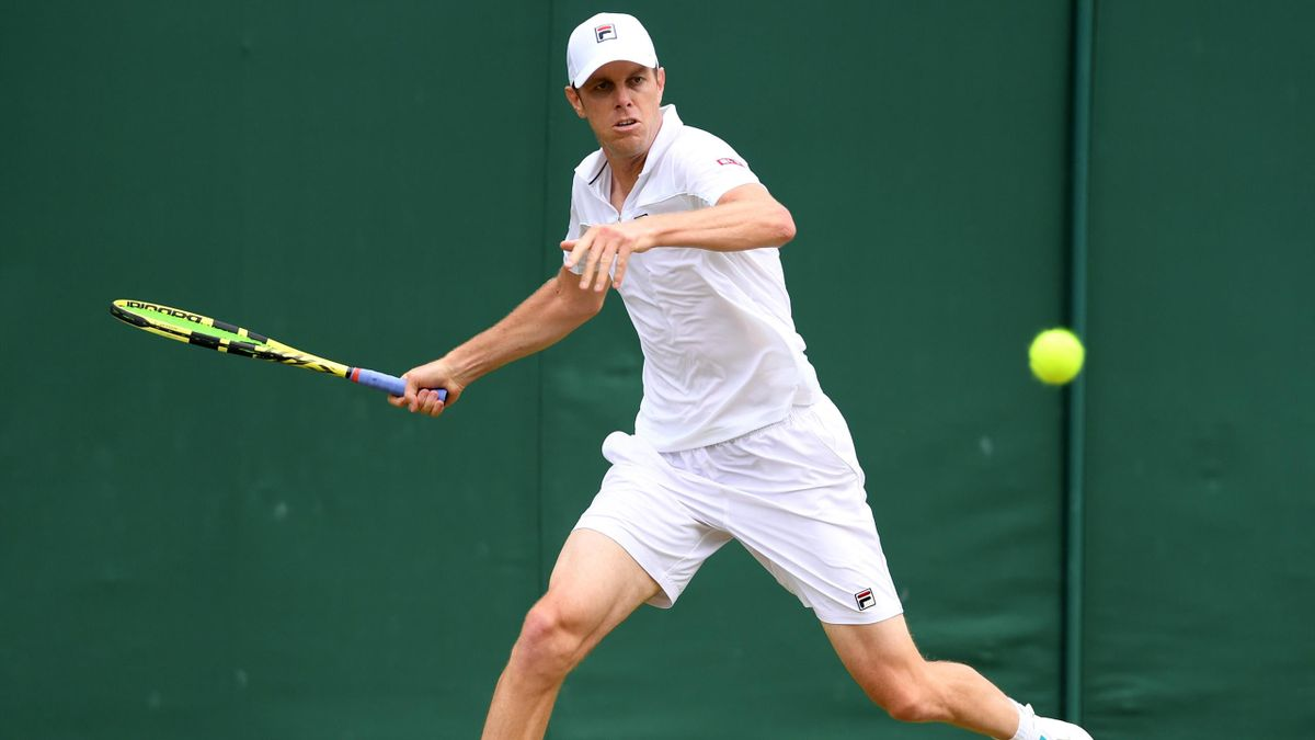 Sam Querrey, face à John Millman lors de Wimbledon 2019
