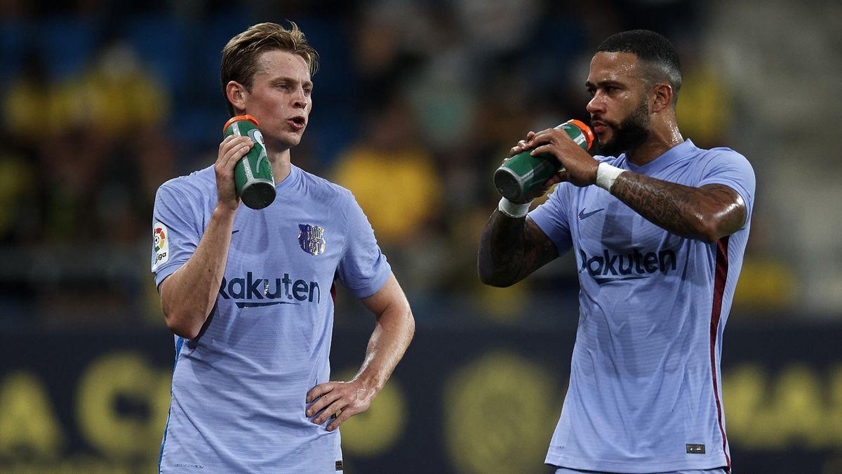 Frenkie de Jong (links) und Memphis Depay - FC Barcelona