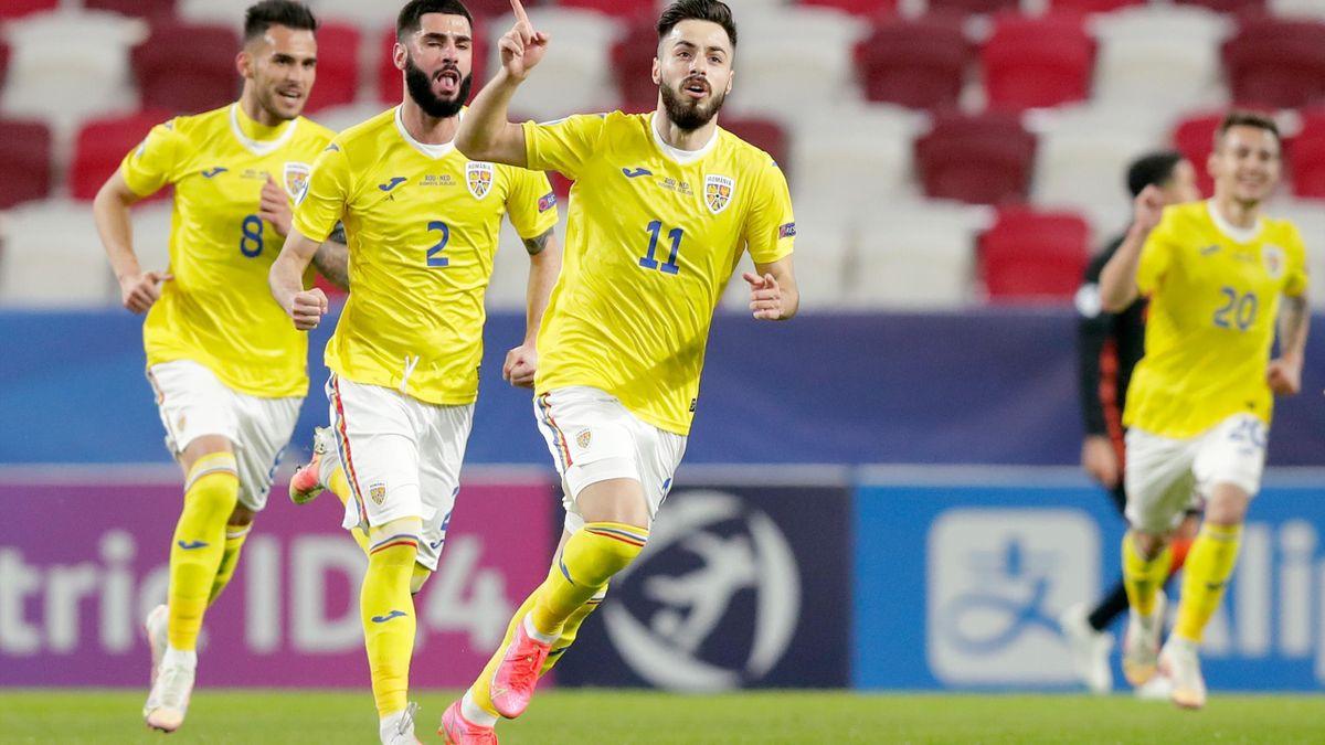 Andrei Ciobanu, celebrând un gol marcat împotriva Olandei la EURO U21