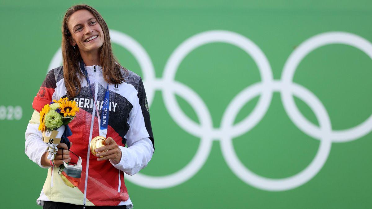 Ricarda Funk hofft nach ihrer Medaille auf einen Kanu-Schub.