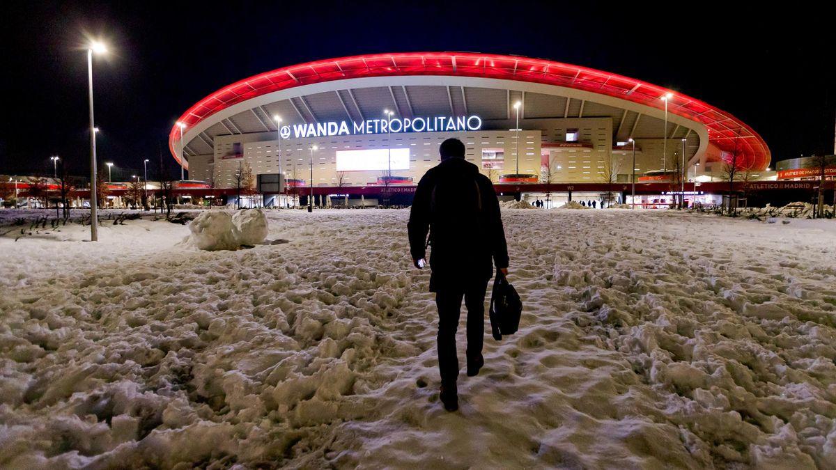 El Wanda Metropolitano todavía con nueve tras la borrasca Filomena