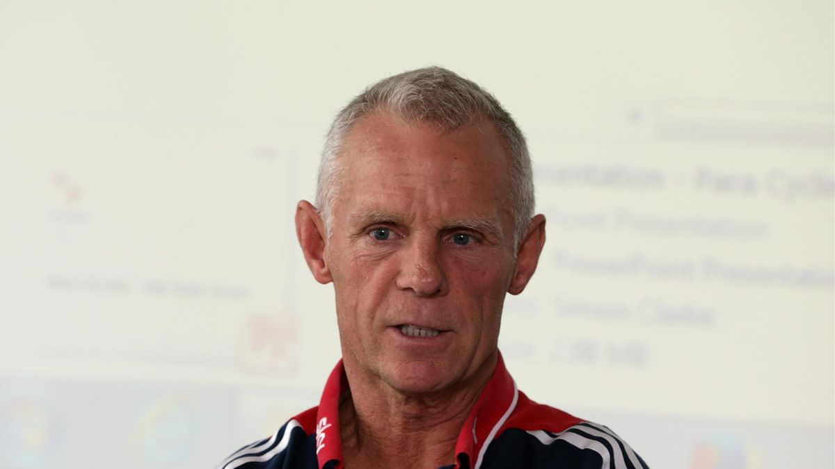 Shane Sutton Technical Director during the Great Britain Cycling Team media day at the National Cycling Centre in Manchester on August 3, 2015 in Manchester, England.