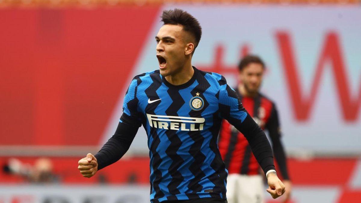 Lautaro Martinez - Milan-Inter Serie A 2020-21