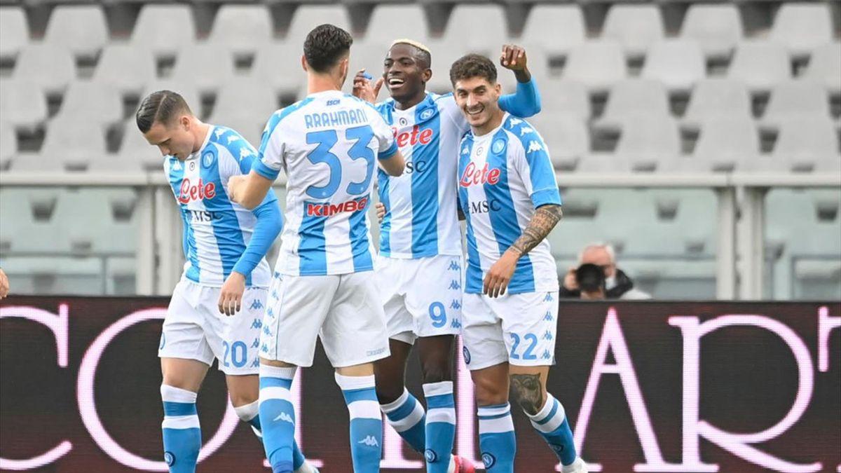 Osimhen esulta dopo il gol in Torino-Napoli - Serie A 2020/2021 - Getty Images