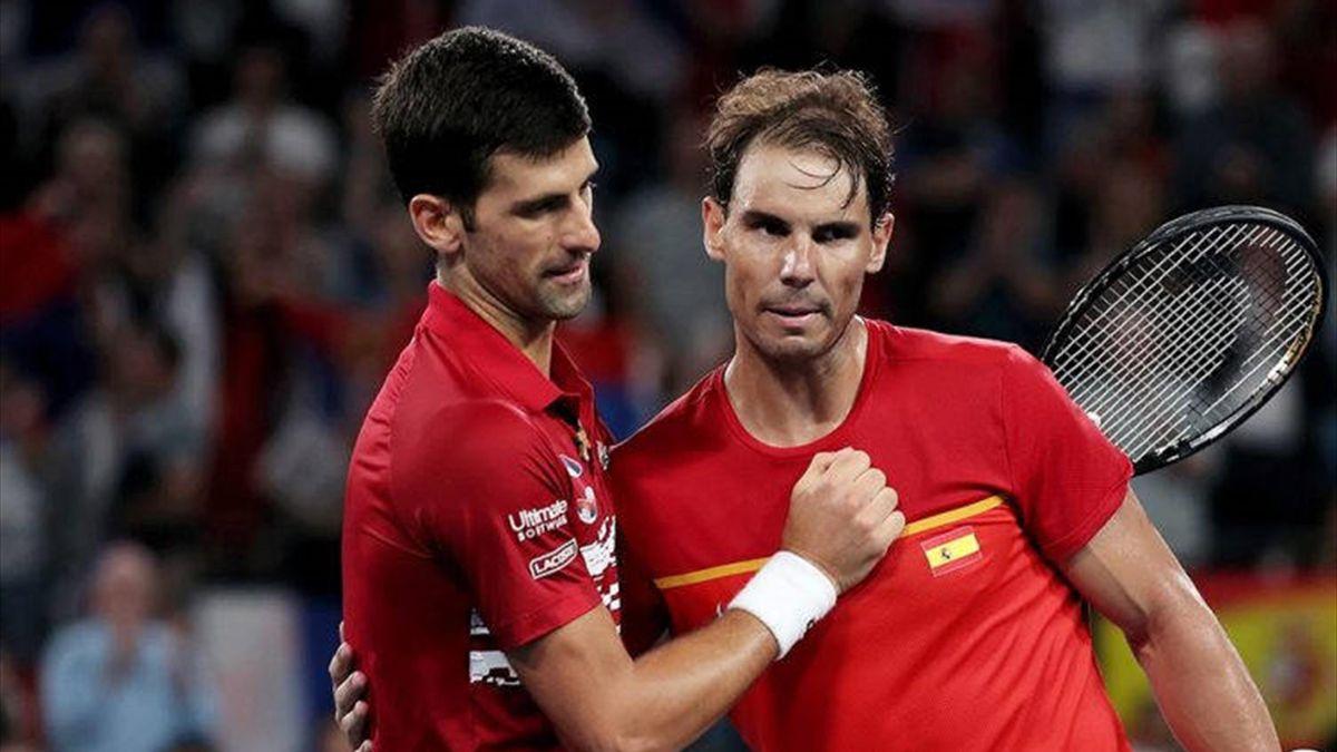 Novak Djokovic (l.) und Rafael Nadal (r.)