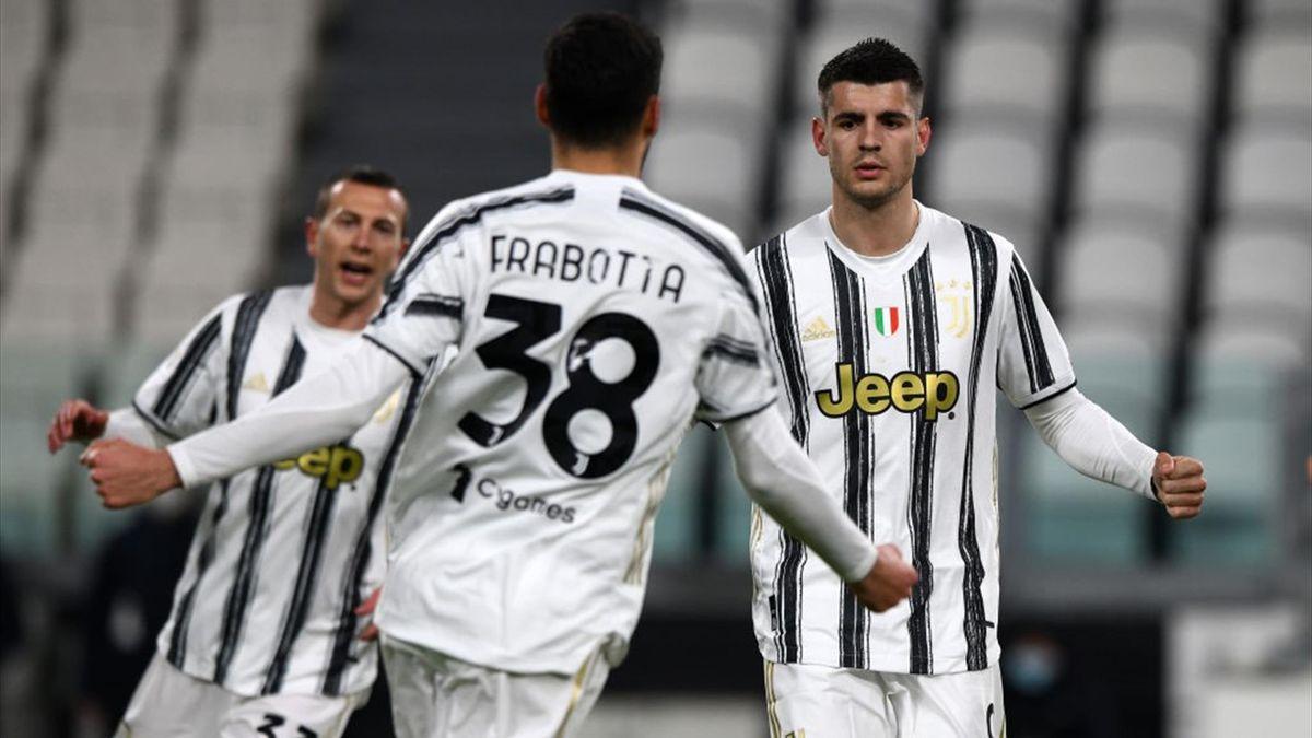 Frabotta, Morata - Juventus-SPAL - Coppa Italia 2020/2021 - Getty Images