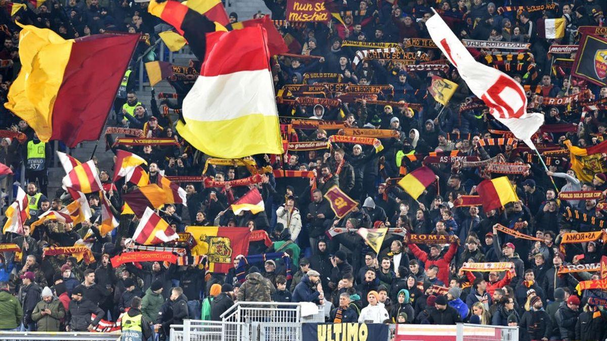 Tifosi della Roma allo stadio Olimpico durante Roma-Wolfsberger - Europa League 2019/2020 - Getty Images