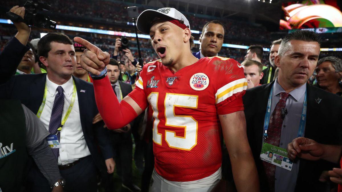 Patrick Mahomes (Chiefs), vainqueur du Super Bowl LIV