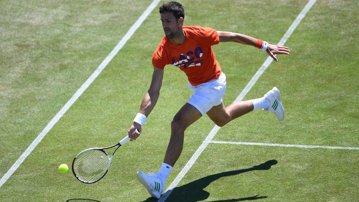 Novak Djokovic à Eastbourne.