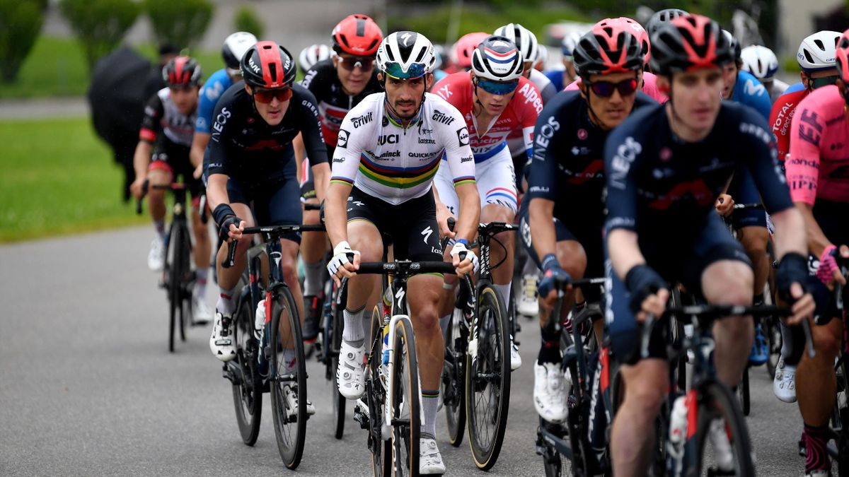 Julian Alaphilippe of France and Team Deceuninck - Quick-Step during the 84th Tour de Suisse 2021, Stage 2 a 178km stage from Neuhausen am Rheinfall to Lachen
