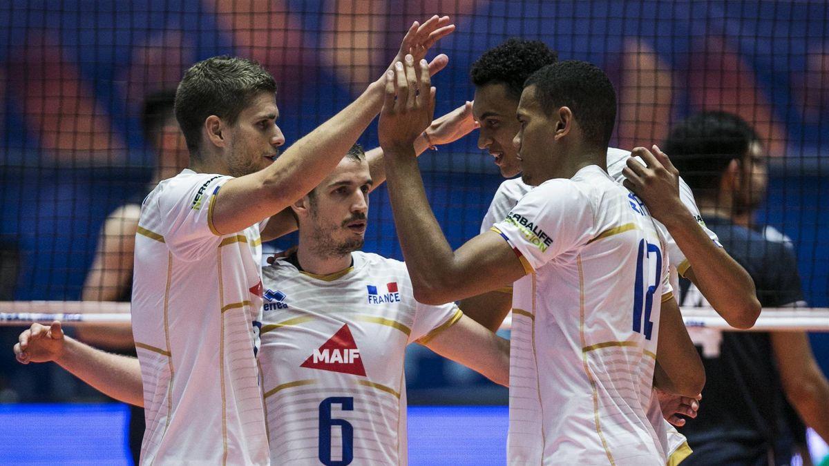 L'équipe de France de volley face à l'Iran en Ligue des Nations en 2019