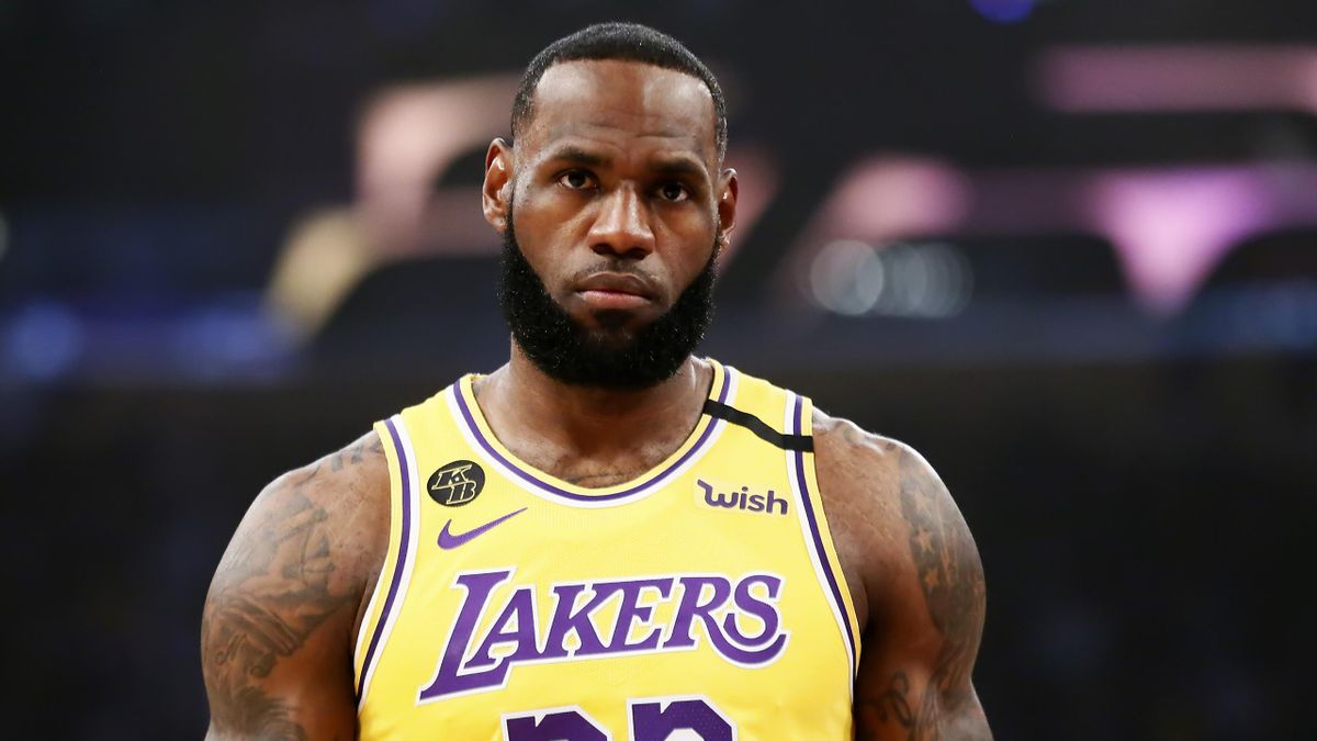 LeBron James, joueur des Los Angeles Lakers