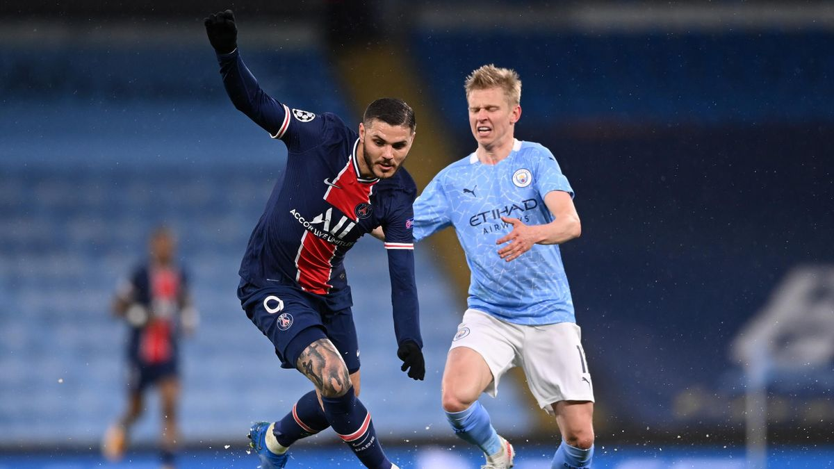 Mauro Icardi, Manchester City-PSG, Champions League 2020/21. Getty Images